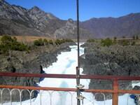 Порог Талдыкпень - замерзший и смирный