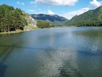 Озеро перед Чемальской ГЭС