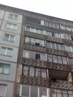 Куски кровли на 6м этаже