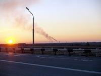 Вечерний новый мост в томске