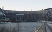 Саяно-шушенская ГЭС зимой