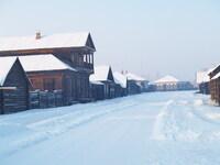 Центральная улица деревни XIXв