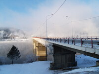 Мост близ ГЭС в Дивногорске